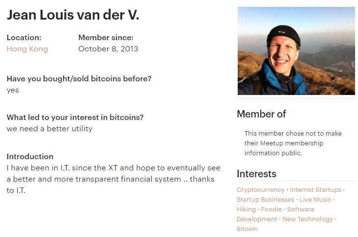 Bitfinex Exchange Jean Louis Van Der v.