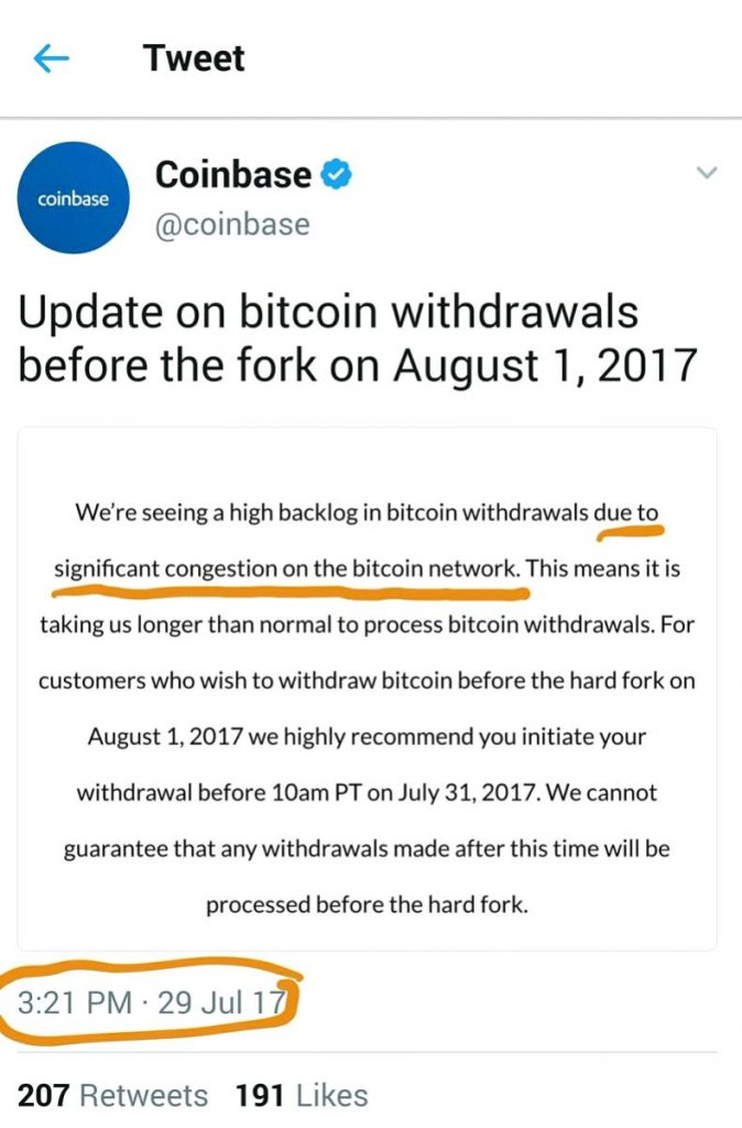 coinbase issues