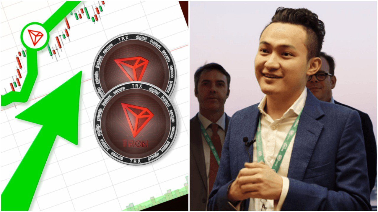 Tron Price Soars 20% After Justin Sun Teases Alluring 'Big Win'